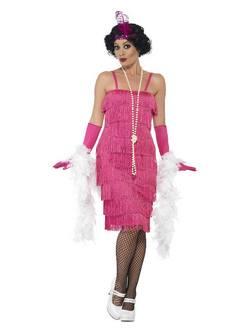 1920-as Évekbeli Pink  Női Jelmez