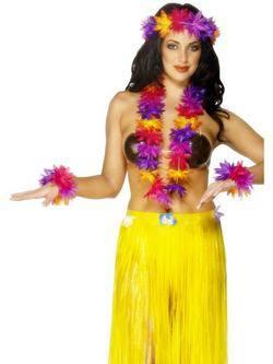4 Részes Színes Hawaii Szett