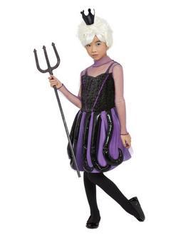 A Kis Hableány Filmből Ismert Gonosz Boszorkány Kislány Jelmez Halloweenre