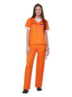 A Narancssárga az ÚJ Fekete Rab Női Jelmez