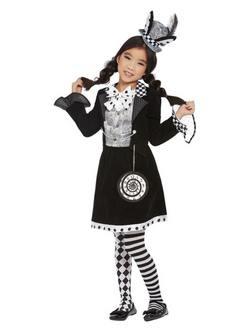 Alíz Csodaországban Sötét Kalapos Kislány Jelmez Halloweenre