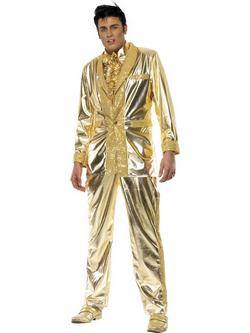 Arany Elvis Presley Férfi Jelmez