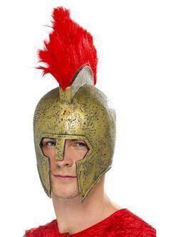 Arany Perszeusz Gladiátor Sisak Piros Tollal