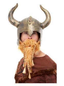 Arany Színű Viking Sisak Szakállal