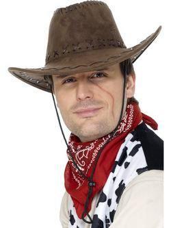 Barna Bőrhatású Cowboy Kalap