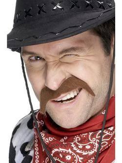 Barna Cowboy Bajusz