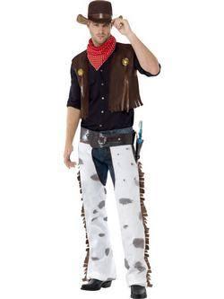 Barna Cowboy Férfi Jelmez