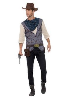 Barna Cowboy Jelmez Férfiaknak Inggel és Egyéb Kiegészítőkkel  - M