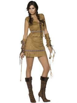 Barna Pocahontas Női Jelmez