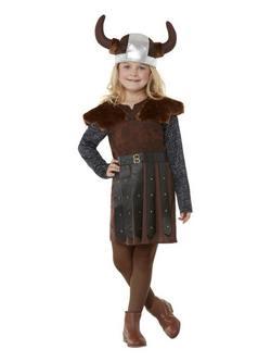 Barna Viking Hercegnő Kislány Jelmez