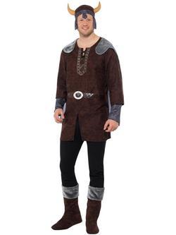 Barna Viking Jelmez Férfiaknak Felsővel és Egyéb Kiegészítőkkel - L