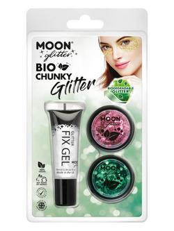 Bio Nagyszemű Csillám - Rózsaszín, Zöld - 2 db-os, 3 g