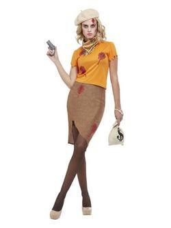 Bonnie Zombi Gengszter Női Jelmez Halloweenre