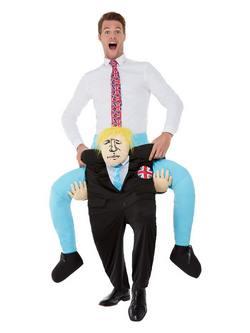 Boris Johnson Piggyback Lovagló Felnőtt Jelmez