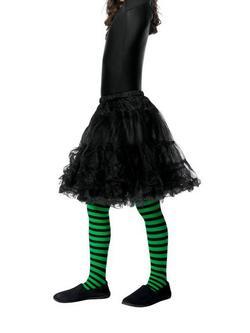 Zöld-Fekete Boszorkány Gyerek Harisnyanadrág