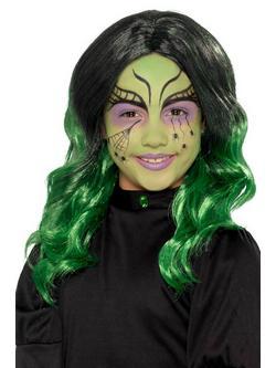 Fekete-Zöld Boszorkány Gyerek Paróka