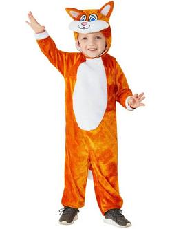 Narancssárga Cica Totyogó Gyerek Jelmez