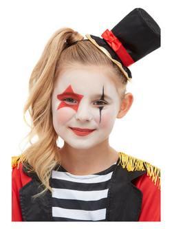Cirkuszi Porondmester Piros Arcfesték Készlet Make-Up Fix