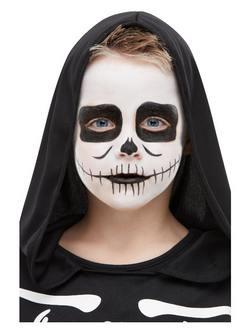Csontváz Fekete-Fehér Arcfesték Készlet Make-Up Fix Gyerekeknek