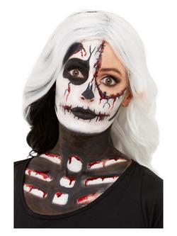 Csontváz Ihlette Fekete-Fehér Arcfesték Készlet Make-Up Fix
