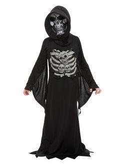 Csontváz Kaszás Kisfiú Jelmez