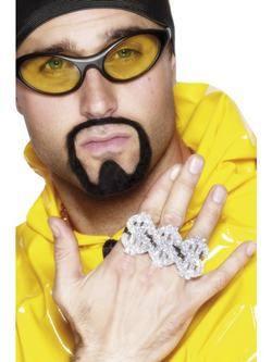 Dollár Rapper Gyűrű 3 Ujjra