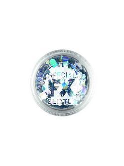 Ezüst Színű Konfetti a Smink Kiegészítéseként - 2 gramm