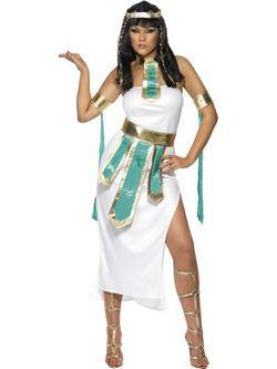 Fehér A Nílus Királynője Női Jelmez