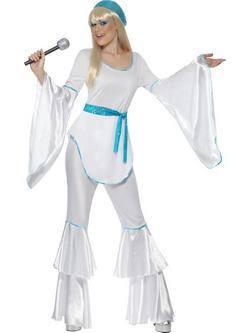 Fehér ABBA Super Trouper Női Jelmez