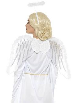 Angyal Smink Készlet Nőknek Glitteres Szárnyakkal és Tollas Glóriával
