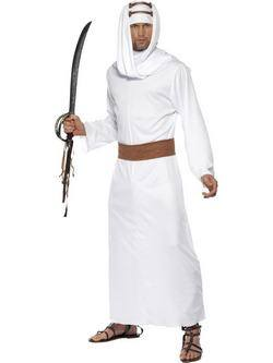 Fehér Arábiai Lawrence Férfi Jelmez