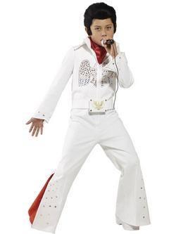 Fehér Elvis Kisfiú Jelmez