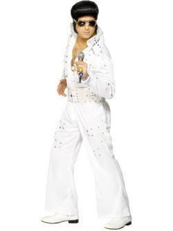 Fehér Elvis Presley Férfi Jelmez