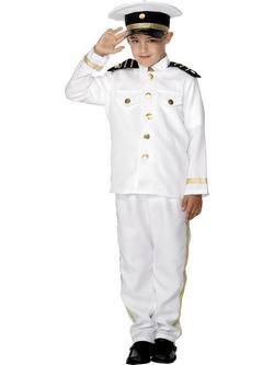 Fehér Hajós Kapitány Kisfiú Jelmez