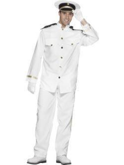 Fehér Hajóskapitány Férfi Jelmez