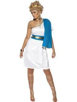 Fehér-Kék Római Szépség Női Jelmez