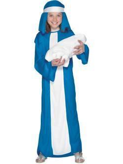Fehér-Kék Szűz Mária Kislány Jelmez