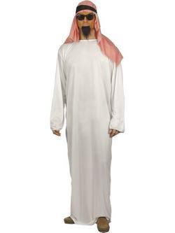 Fehér-Piros Arab Férfi Jelmez