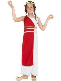Fehér-Piros Görög Kislány Jelmez