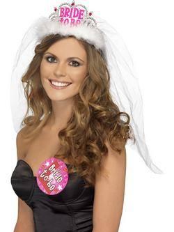 Fehér-Rózsaszín Bride To Be Tiara Lánybúcsúra