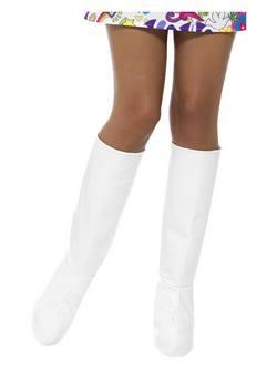 Fehér Térdig Érő Csizma Cipőtakaró