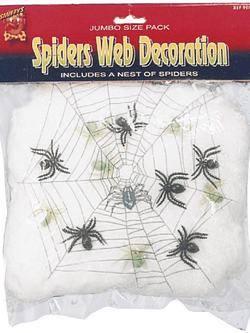 Fehér UV-s Pókháló 6 db Pókkal