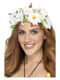 Fehér Virágos Hajpánt