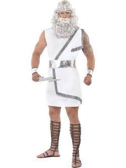 Fehér Zeusz Isten Férfi Jelmez