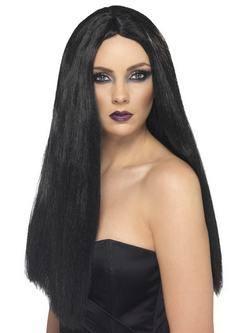 Fekete 60 cm Hosszú Boszorkány Paróka