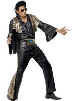 Fekete-Arany Elvis Presley Férfi Jelmez