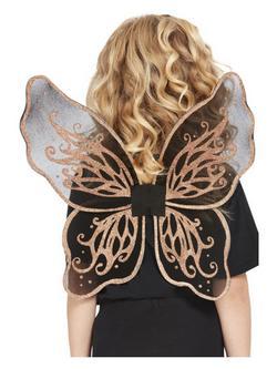 Fekete-Arany Pillangó Szárnyak - 43 cm