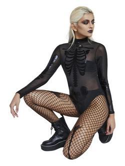 Fekete Áttetsző Női Jelmez Halloweenre