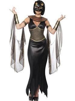 Fekete Bastet Istennő Női Jelmez