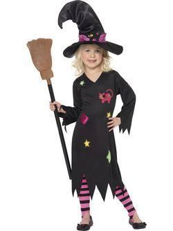 Fekete Boszorkány Kislány Jelmez